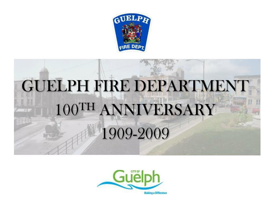 GUELPH FIRE DEPARTMENT