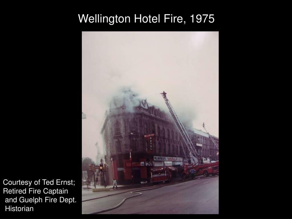 Wellington Hotel Fire, 1975