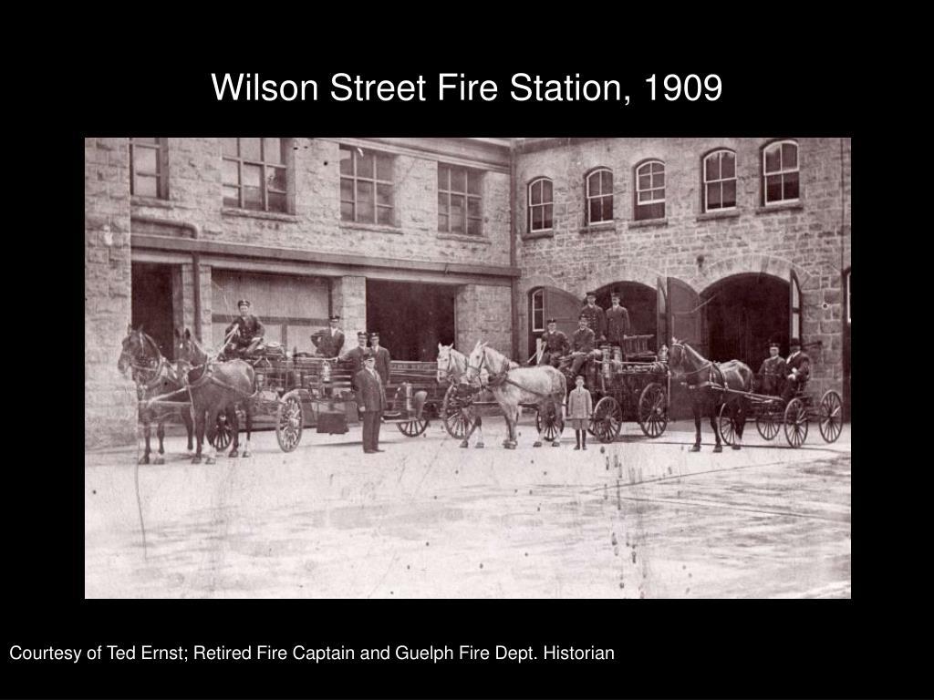 Wilson Street Fire Station, 1909