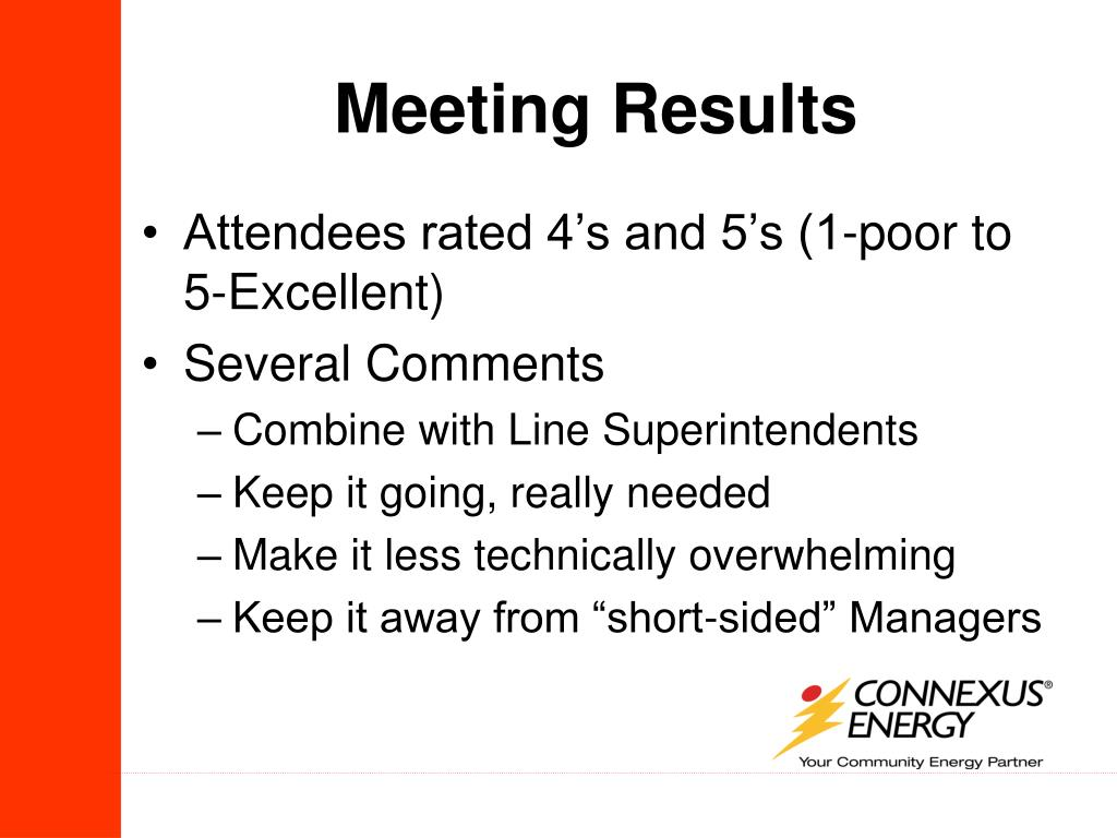 Meeting Results