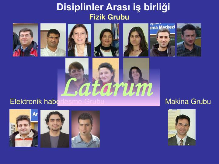 Disiplinler Arası iş birliği