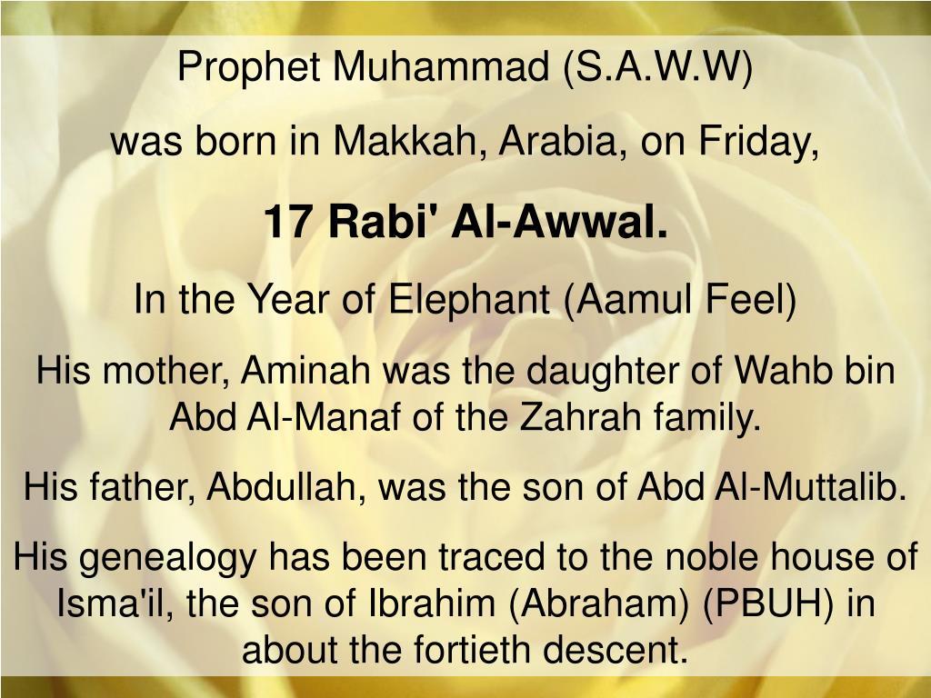 Prophet Muhammad (S.A.W.W)