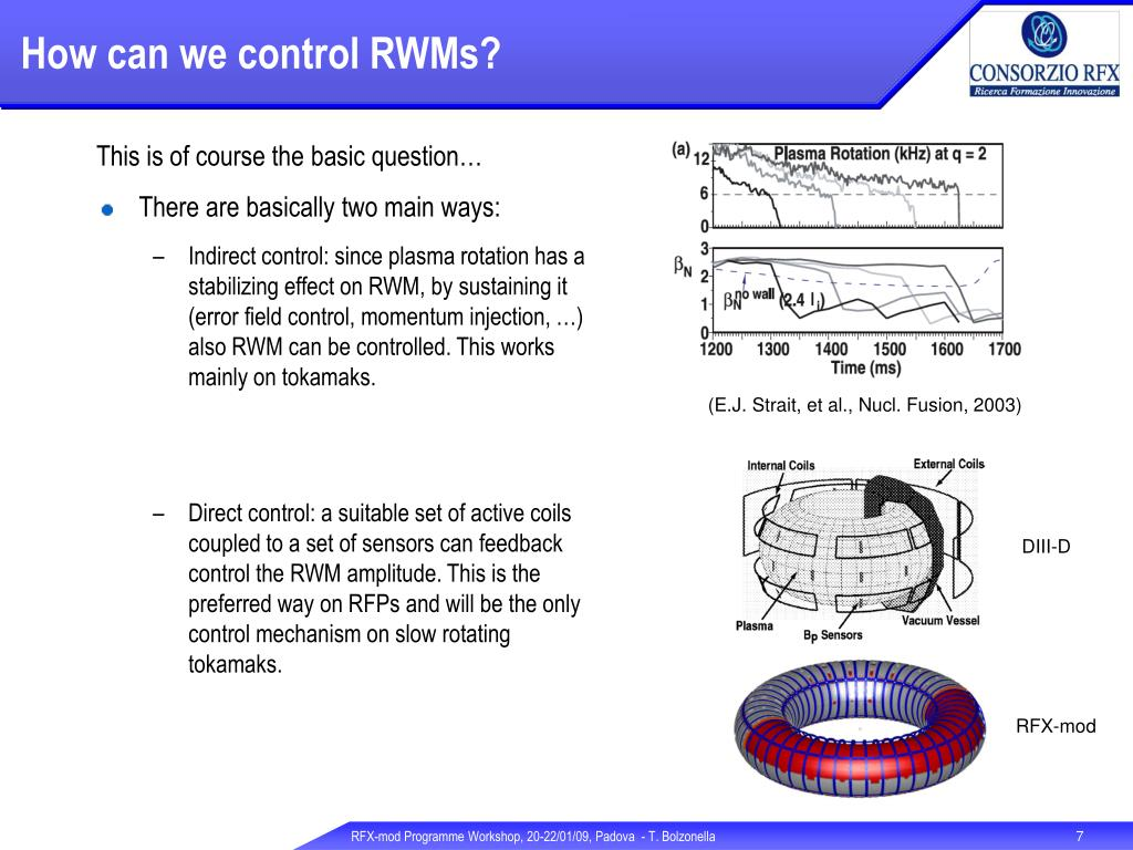 How can we control RWMs?