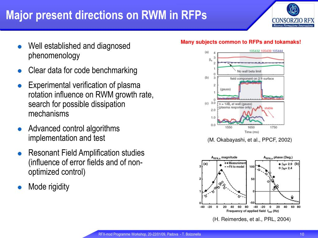 Major present directions on RWM in RFPs
