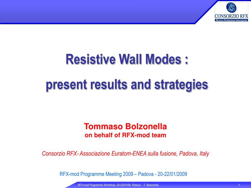 Resistive Wall Modes :