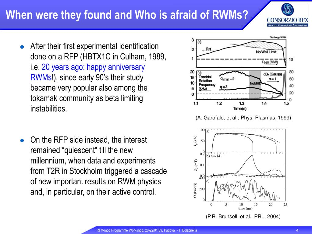 When were they found and Who is afraid of RWMs?