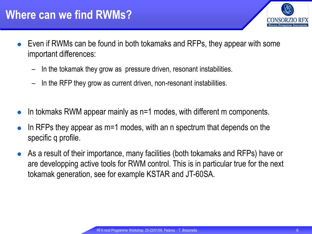 Where can we find RWMs?