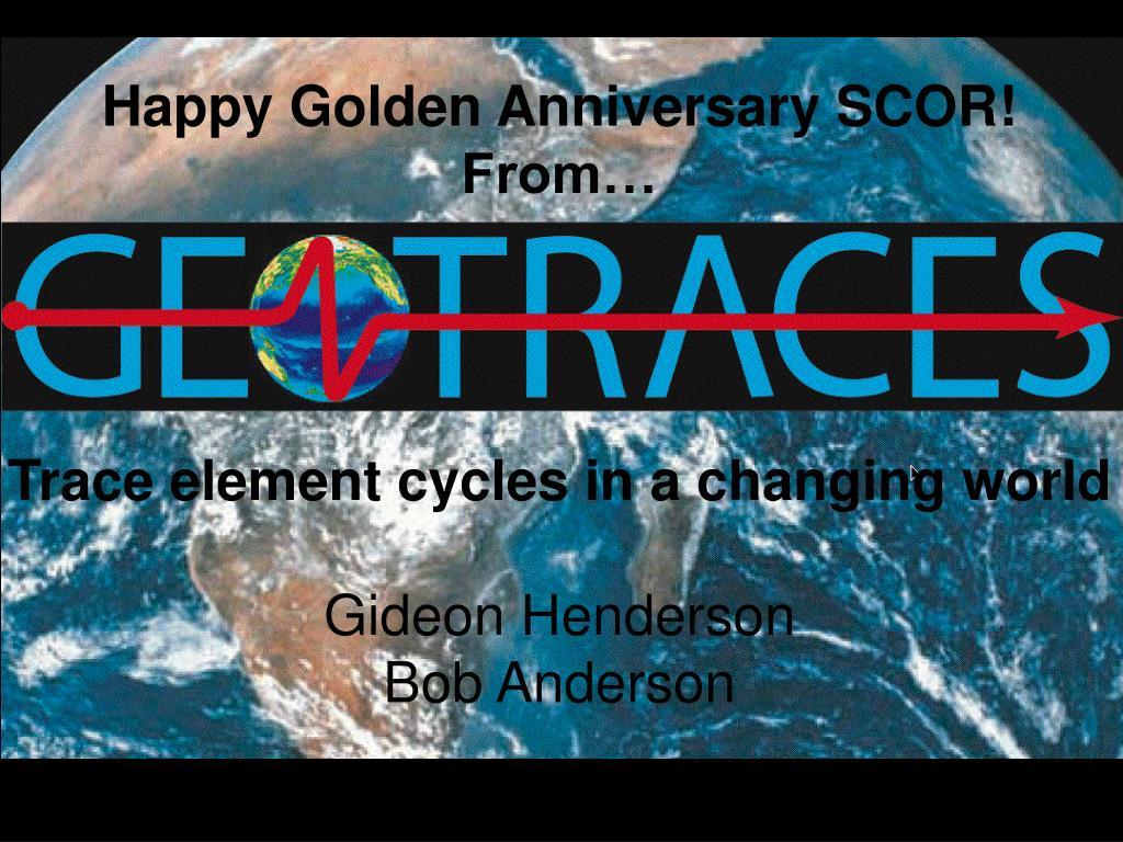 Happy Golden Anniversary SCOR!