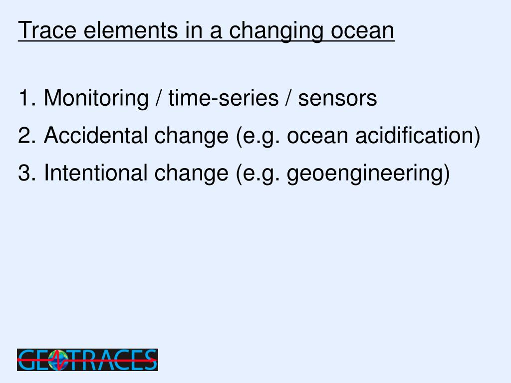Trace elements in a changing ocean