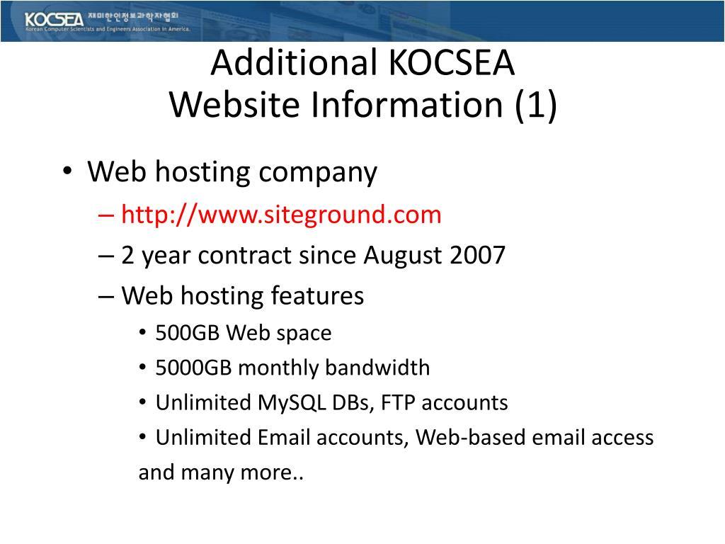 Additional KOCSEA