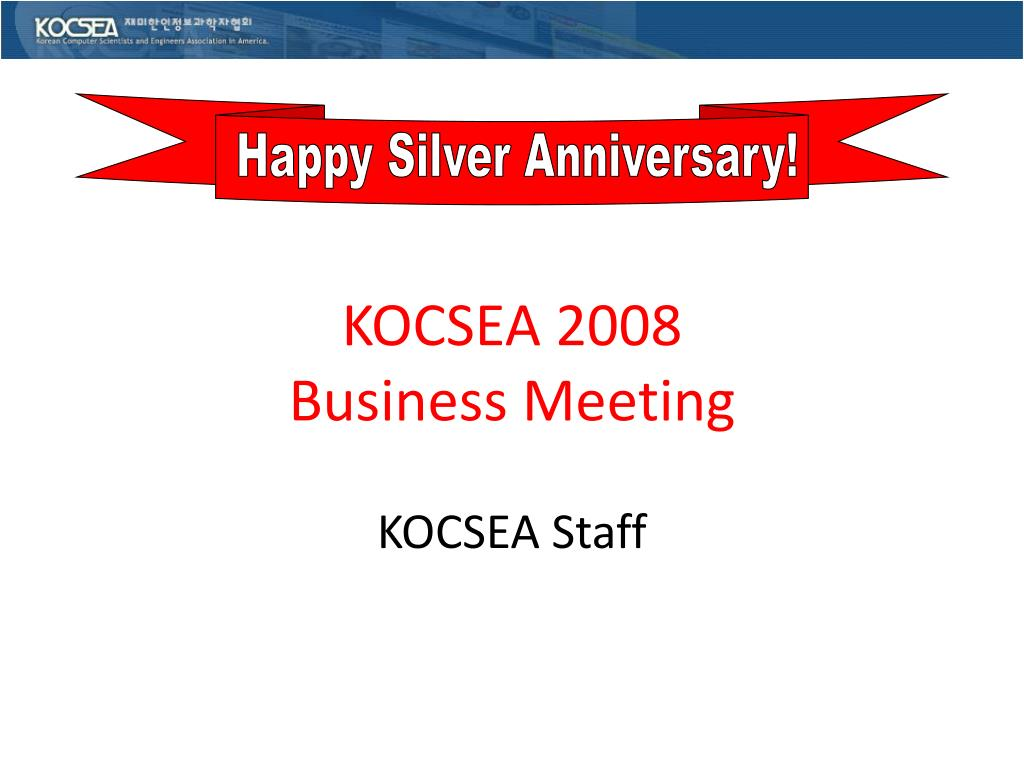 kocsea 2008 business meeting