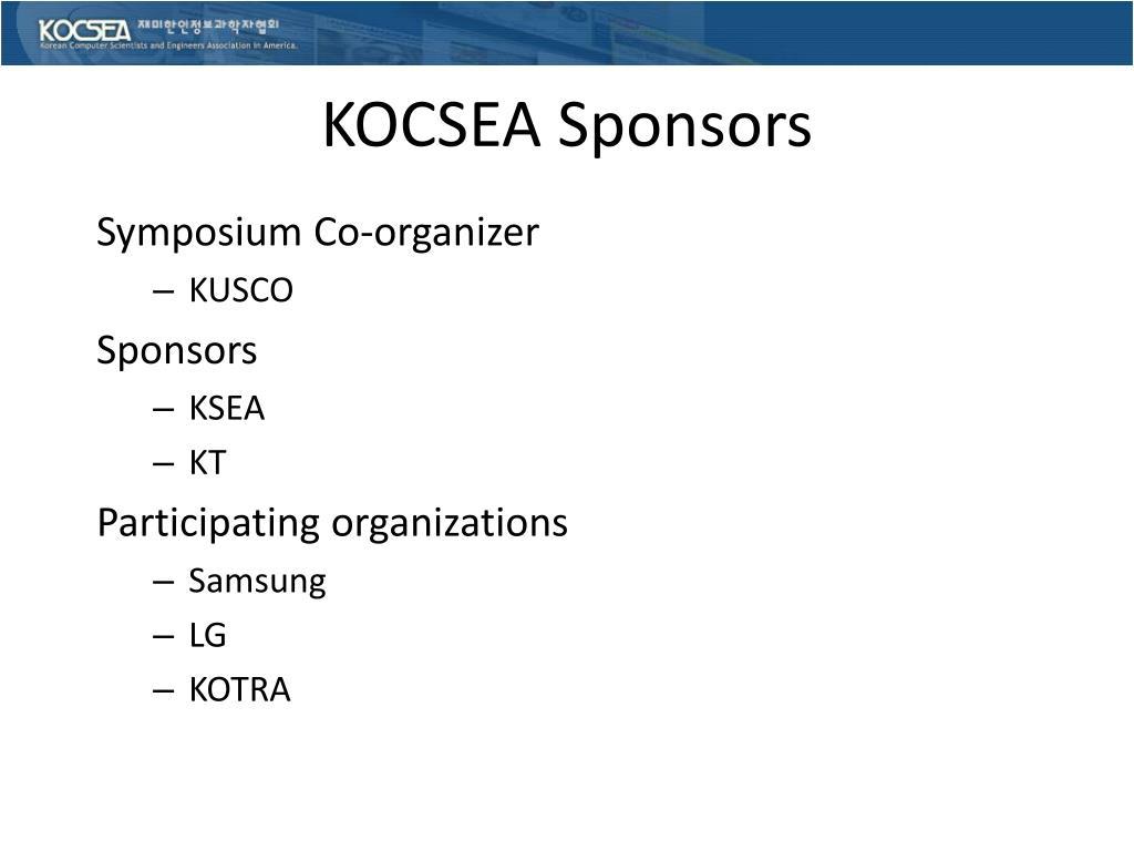 KOCSEA Sponsors