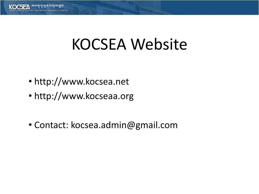 KOCSEA Website