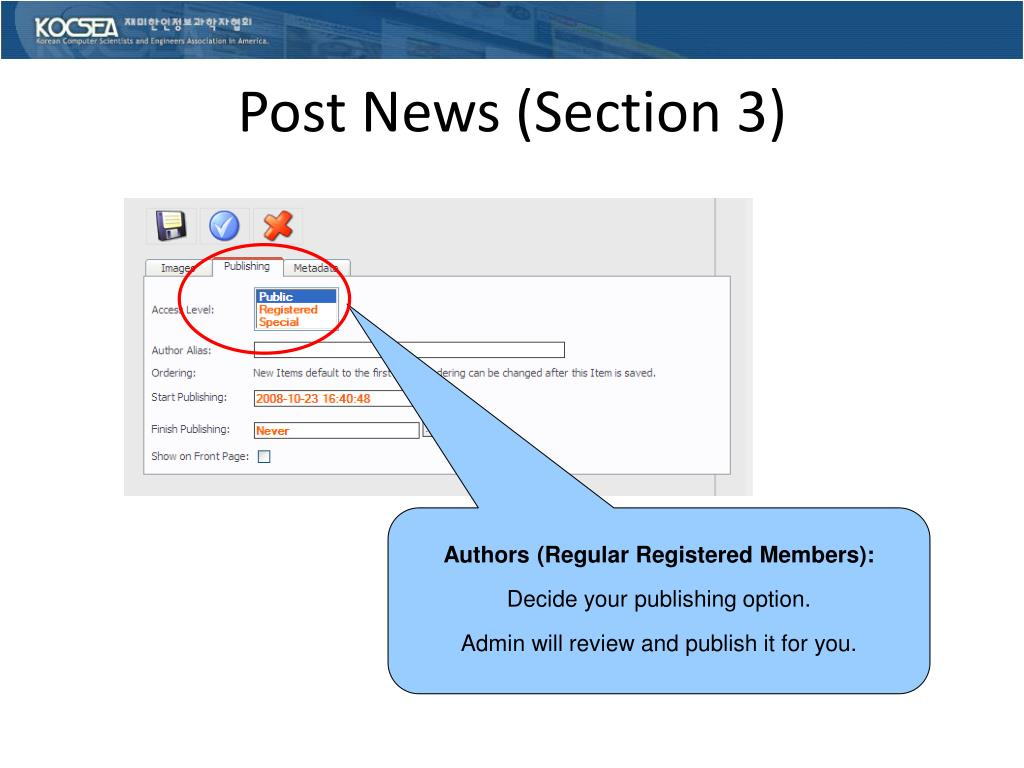 Post News (Section 3)