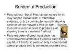 burden of production