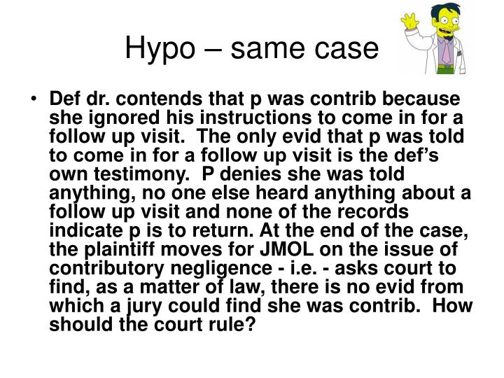 Hypo – same case