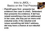 intro to jmol basics on the trial process