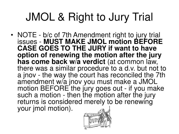 JMOL & Right to Jury Trial