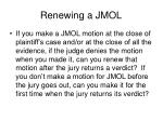 renewing a jmol