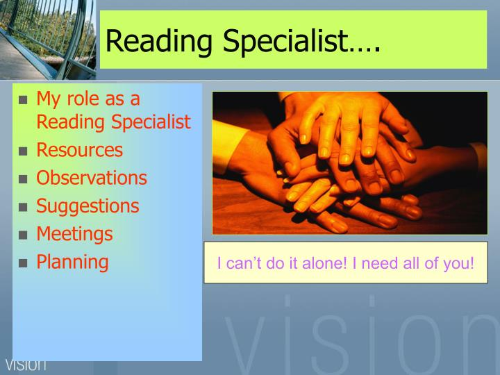 Reading Specialist….
