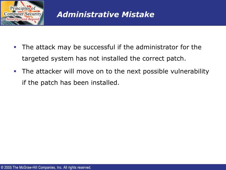 Administrative Mistake