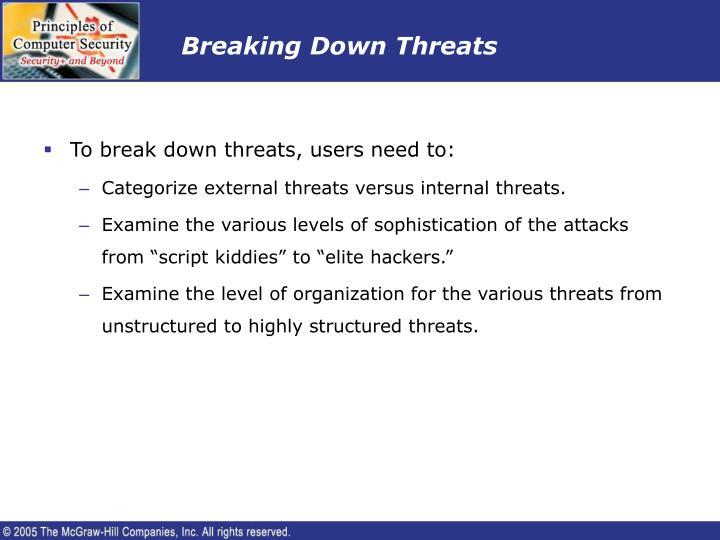 Breaking Down Threats