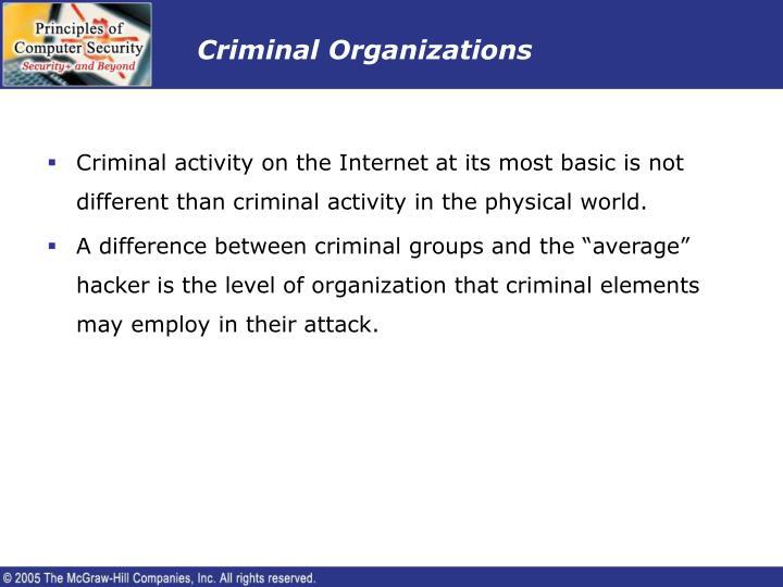 Criminal Organizations