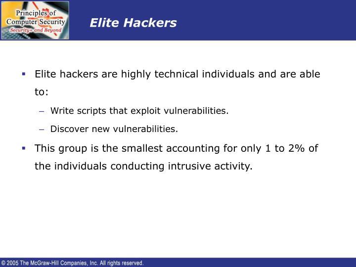 Elite Hackers