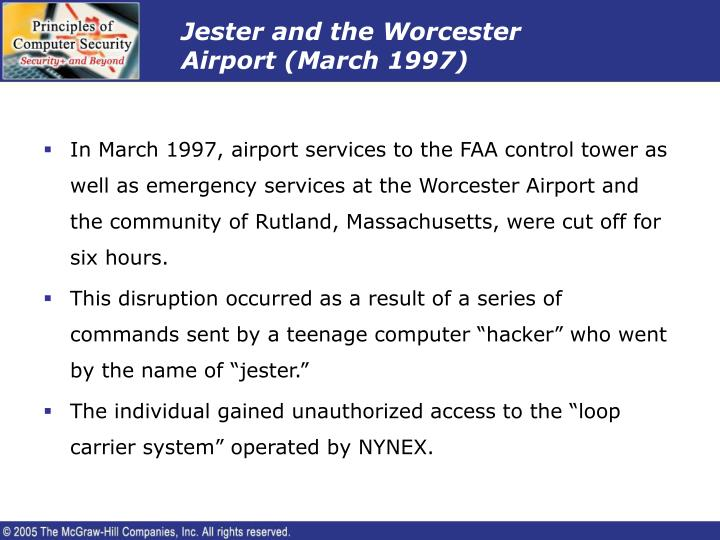Jester and the Worcester