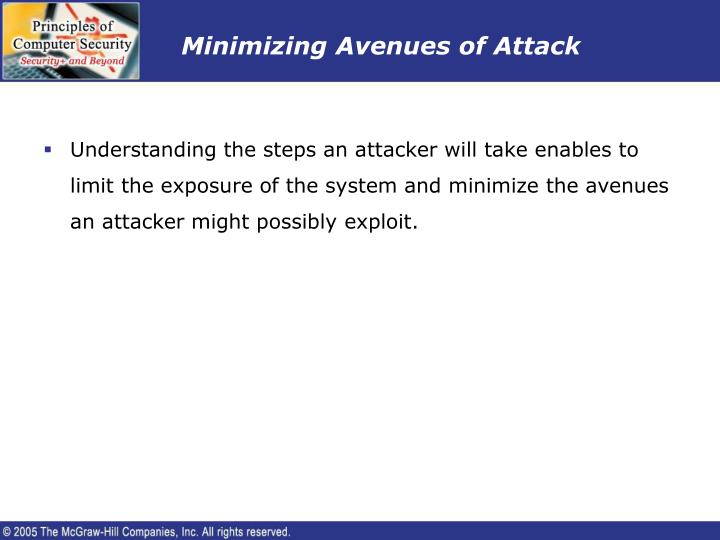 Minimizing Avenues of Attack