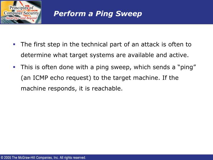 Perform a Ping Sweep