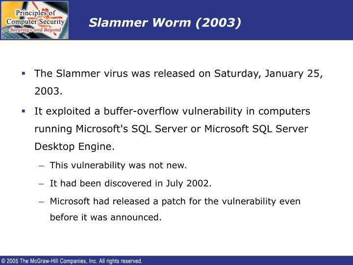 Slammer Worm (2003)