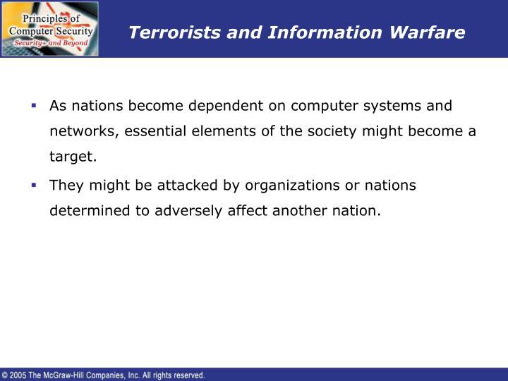 Terrorists and Information Warfare