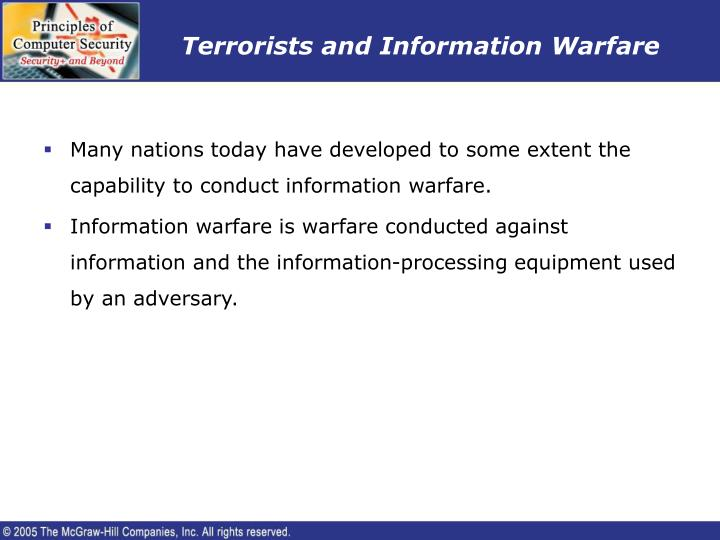 Terrorists and Information Warfare