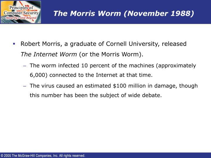 The Morris Worm (November 1988)