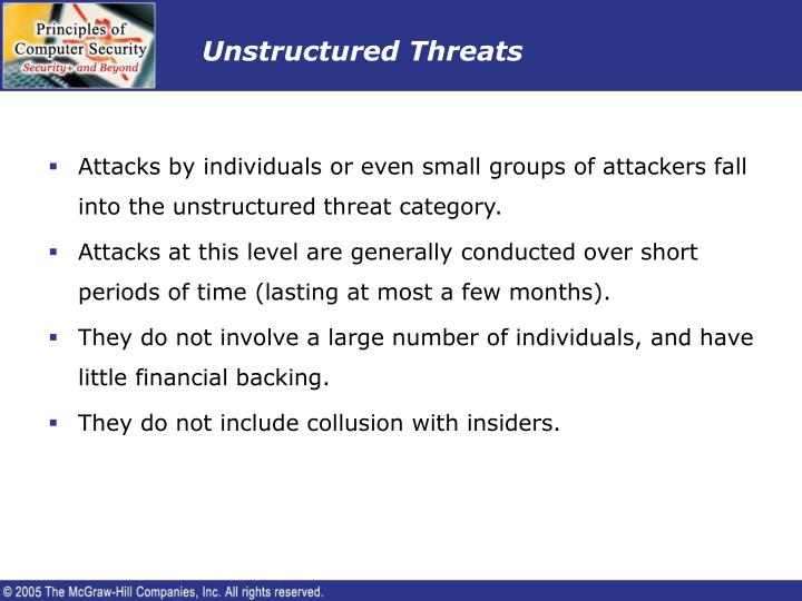 Unstructured Threats