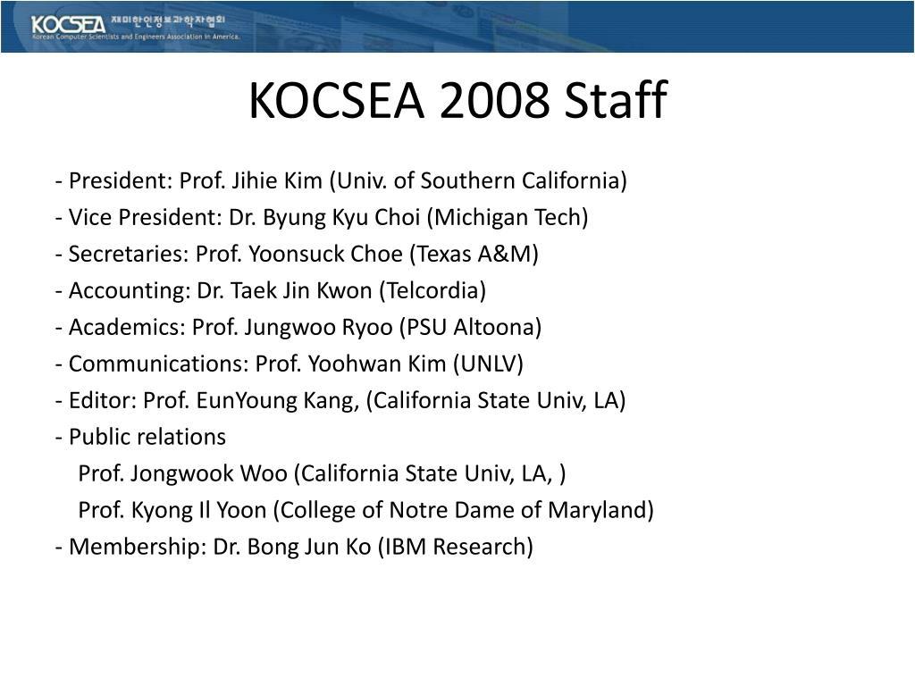 KOCSEA 2008 Staff