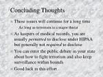 concluding thoughts1
