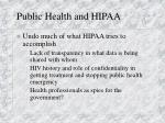 public health and hipaa