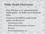 public health disclosures