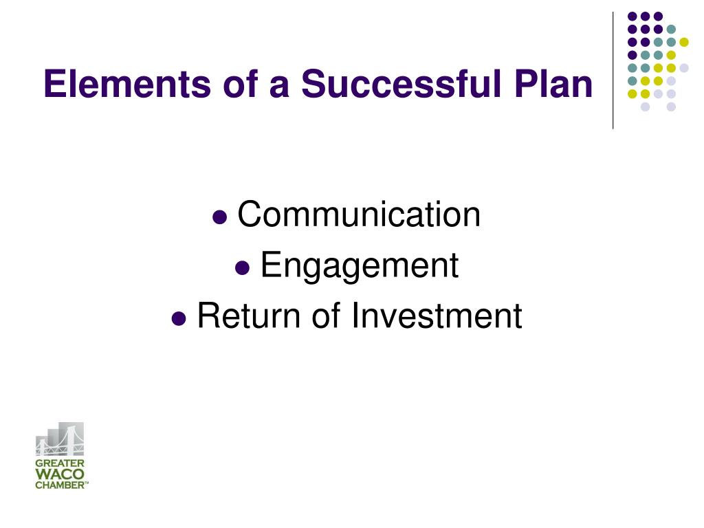 Elements of a Successful Plan