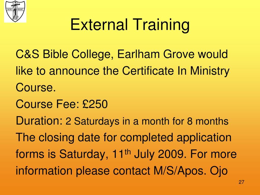 External Training