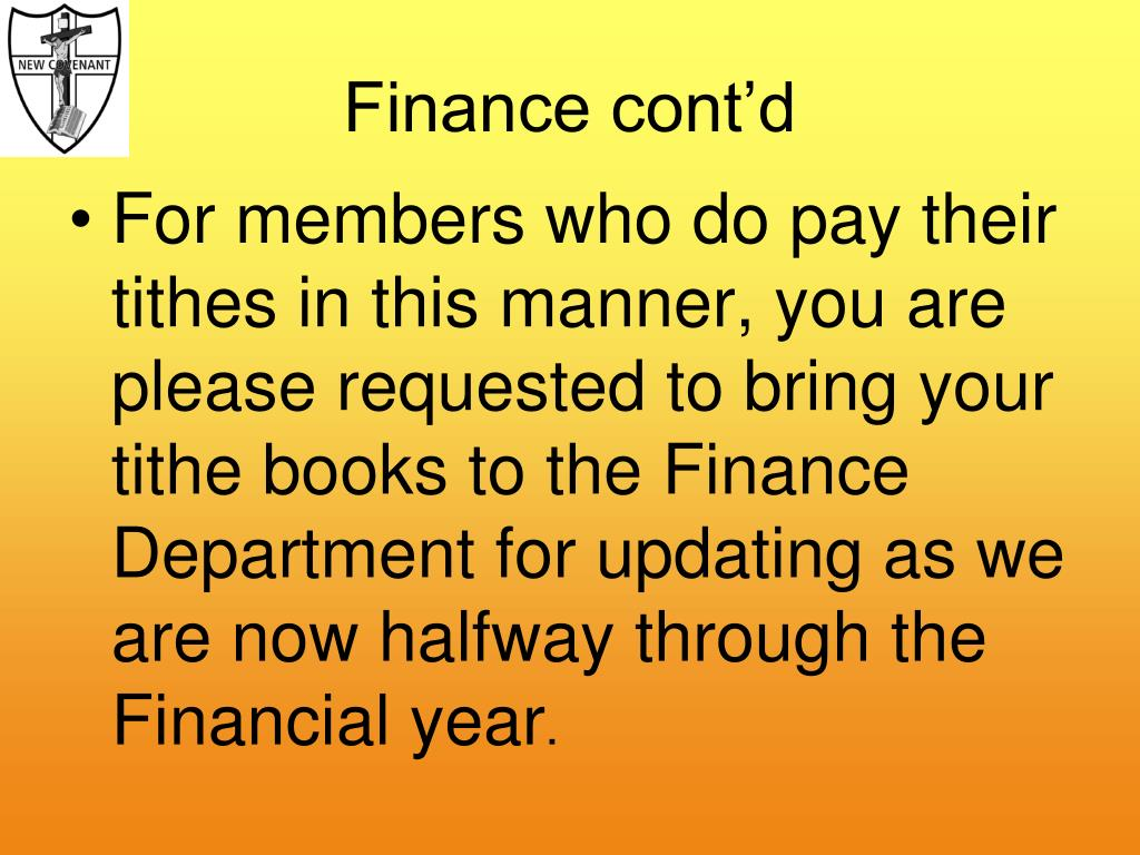 Finance cont'd
