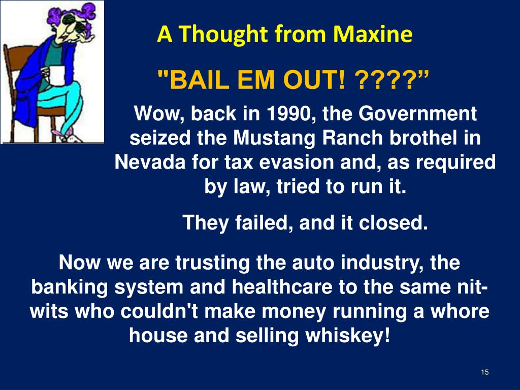 A Thought from Maxine