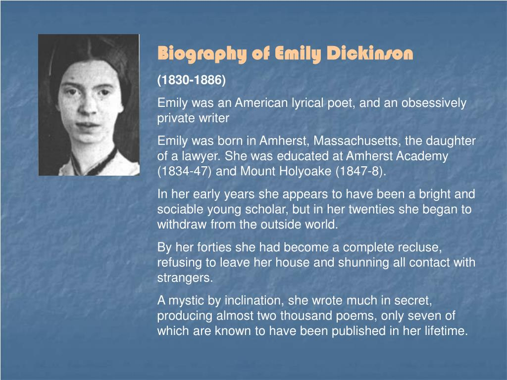 Biography of Emily Dickinson