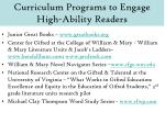 curriculum programs to engage high ability readers
