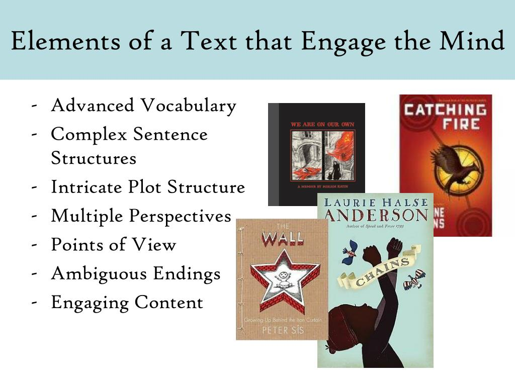 Elements of a Text that Engage the Mind