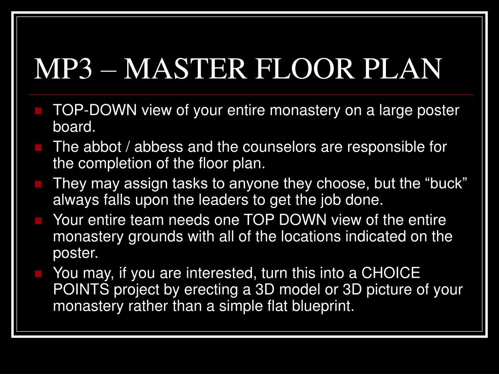 MP3 – MASTER FLOOR PLAN
