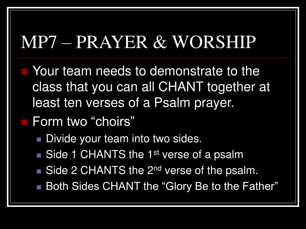 MP7 – PRAYER & WORSHIP