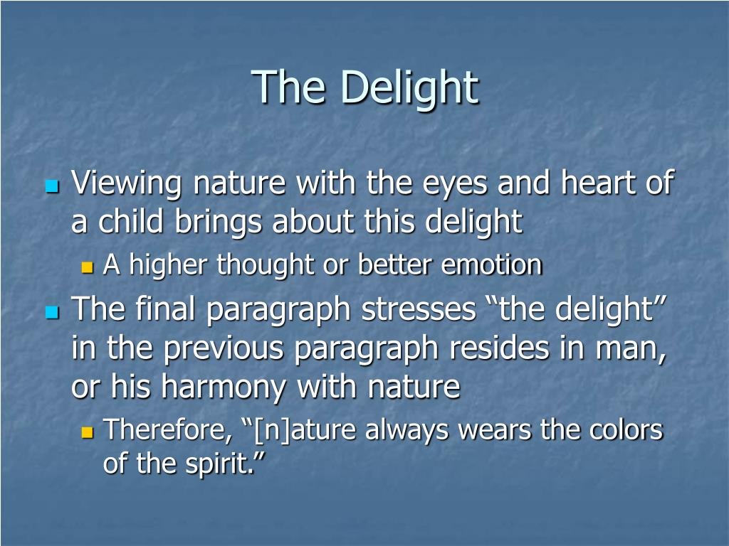The Delight
